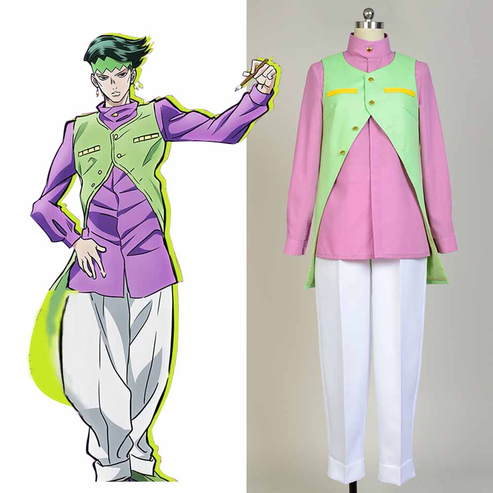JoJo's Bizarre Adventure Rohan Kishibe Cosplay Costume Full Sets Uniform Cosplay Halloween Carnival Women and Men Costume