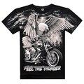 2015 nova Chegada 3D Impresso Em Camisetas de Ombro Ocasional dos homens o desgaste de Algodão Águia Legal Camisa do Verão T Famosos Homens Da Marca roupas