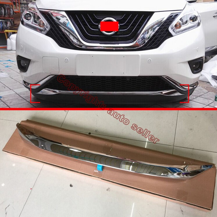 2017 Nissan Murano Exterior: ABS Chrome Front Bumper Cover Trim For Nissan MURANO 2015