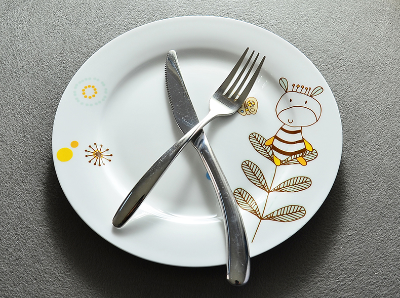 10inch bone china dinner plate cute cow design porcelain dinnerware for serving ceramic plates buffets bbq dish tray serves-in Dishes \u0026 Plates from ... : cow dinner plates - pezcame.com