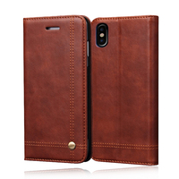 Deluxe Noble Men Leather Case Fundas for iPhone 8 Plus 8 Wallet Cover Brown Flip Holster For iPhone 7 Plus 6s 6plus Coque Bags
