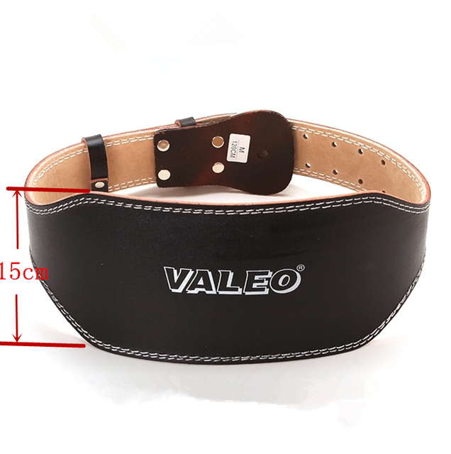 15cm Leather Weightlifting Belt Men Bodybuilding Back Protector Gym fitness powerlifting Training waistband Trainer belt