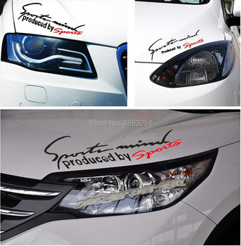 Reflective Lamp Eyebrow Sports Styling Hood headlight stickers for Mitsubishi outlander 2016 lancer 10 9 pajero asx Accessories image