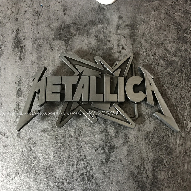 Metallica Letter Metal Belt Buckle Classic Rock band Logo Buckles Fit 4cm Wide Belt Men,Women,Jeans,Clothes accessories
