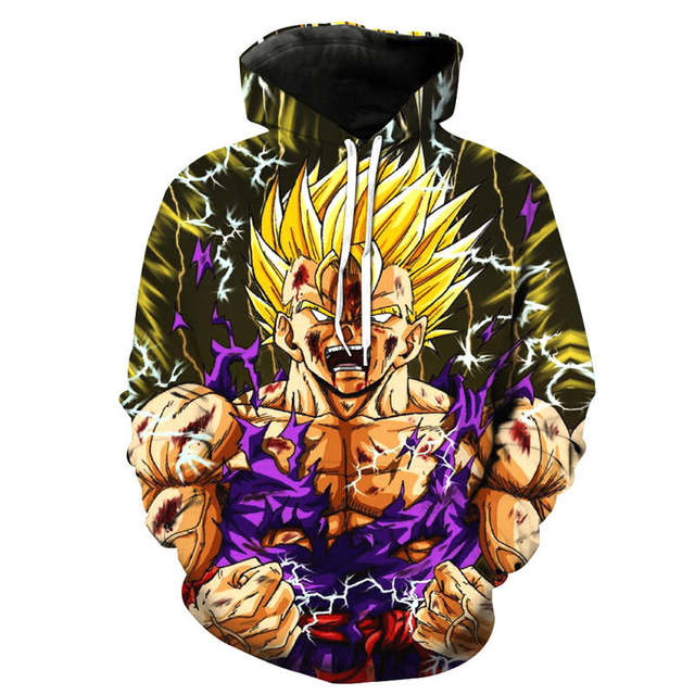 Dragon Ball Z Son Goku Hooded 3d Printed Men Sweatshirt