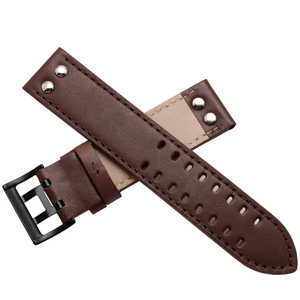 Image 2 - Genuine Leather watchband replacement leather strap Khaki Classic Jazz Seiko watch chain for Hamilton 20mm 22mm