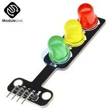 Мини-красный желтый и зеленый цвета 5V движения светильник светодиодный Дисплей модуль для Arduino 5 мм светодиодный мини-трафика светильник для краски для дорожной светильник Системы модель