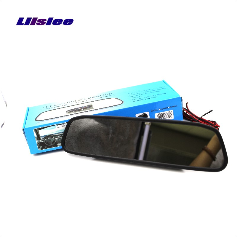 Liislee For BMW X1 E84  X3 E83 Rearview Mirror Car Monitor Screen Display  4.3 inch  HD TFT LCD NTSC PAL Color TV System