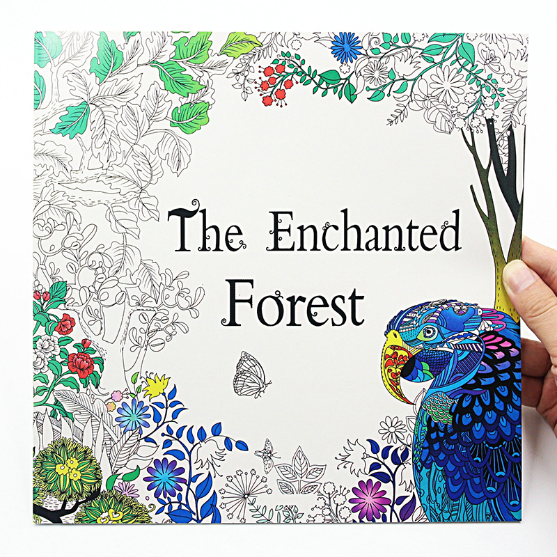 The Enchanted Forest 24 Pages English Edition Coloring Book For Adult Relieve Stress Kill Time