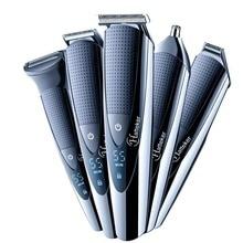 5в1 водонепроницаемый триммер для волос, профессиональная машинка для стрижки волос, триммер для бороды, электробритва для тела, машинка для стрижки волос, стрижка для мужчин