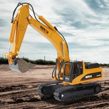 1:50 Excavator Construction Vehicle Alloy Truck Diecast Car Toys For Children  yellow architecture construction vehicle model alloy simulation cement mixer truck toys for children buildings
