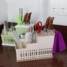 28cm Multifunction Knife Holder Plastic Knife Chopsticks Cage Draining Rack Storage Shelf Stand For knives Holder Kitchen Tools