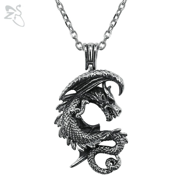 Cool dragon necklace silver pendants collar mens boys jewellry cool dragon necklace silver pendants collar mens boys jewellry vintage for women choker ancient animal chain mozeypictures Image collections