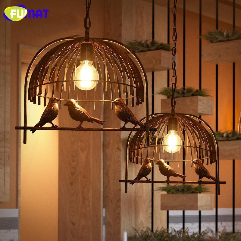 FUMAT Pendant Lights Loft Pendant Light Dinning Room Hanging Lamp Design Metal Birds Light Fixture Industrial Pendant Lamp