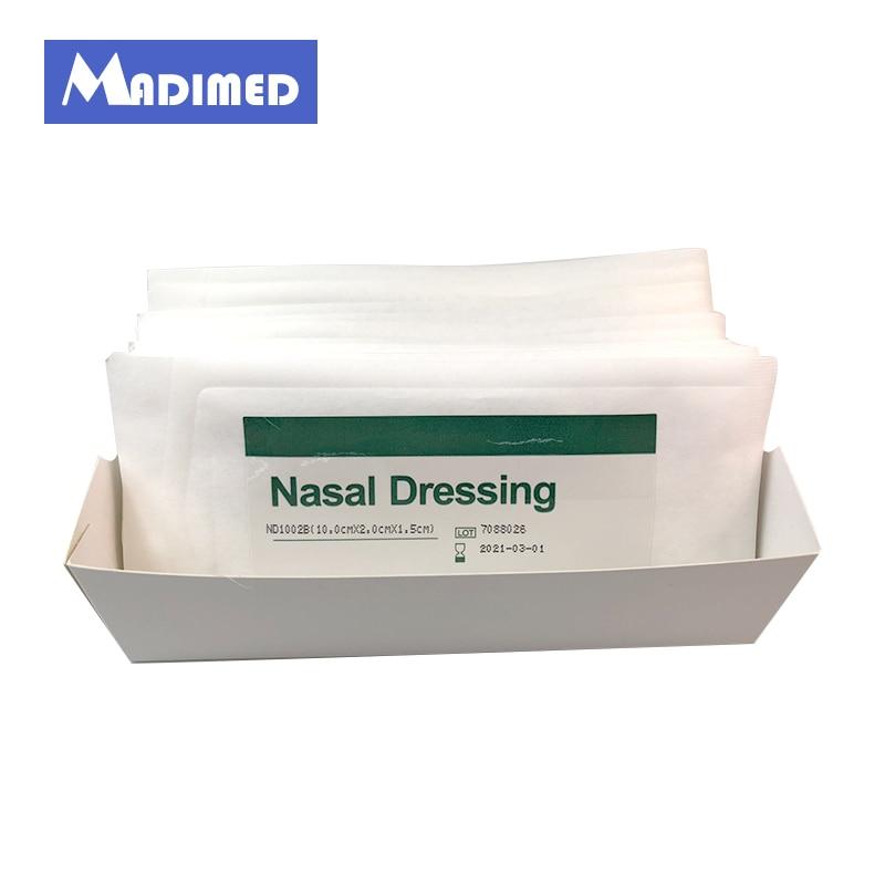 Disposable Nasal Dressing Medical Hemostatic PVA Sponge for Nose Bleeding  Nasal Cavity Packing Haemostasis packaging and labeling