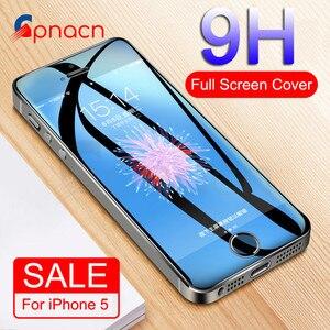 الزجاج المقسى على ل أبل فون 5 S 5 SE 5C واقي للشاشة 9 H مكافحة انفجار طبقة رقيقة واقية الزجاج ل فون 5 S SE 4 4 S 5
