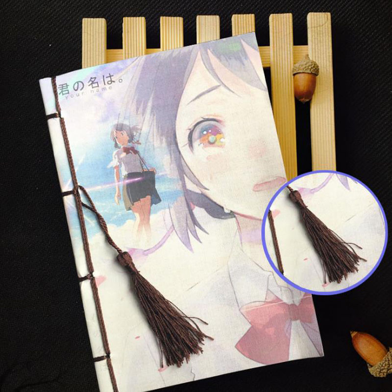 1 Pcs Kawaii Japan Anime Your Name Diary Travel Journal Book Cartoon Notebook officie for Student Gift anime movie your name tachibana taki
