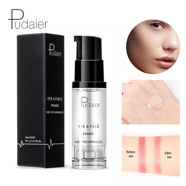 Eyes Primer Gel Makeup Cream 6ml Liquid Smooth Fine Lines Brighten Eye Primer Eye Shadow Foundation Face Makeup Base Maquiagem
