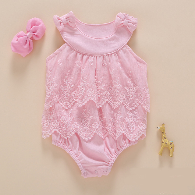 392f9ac92 Baby Girl Princess Bodysuits 2pcs set 0 2Years Kids Summer Newborn ...