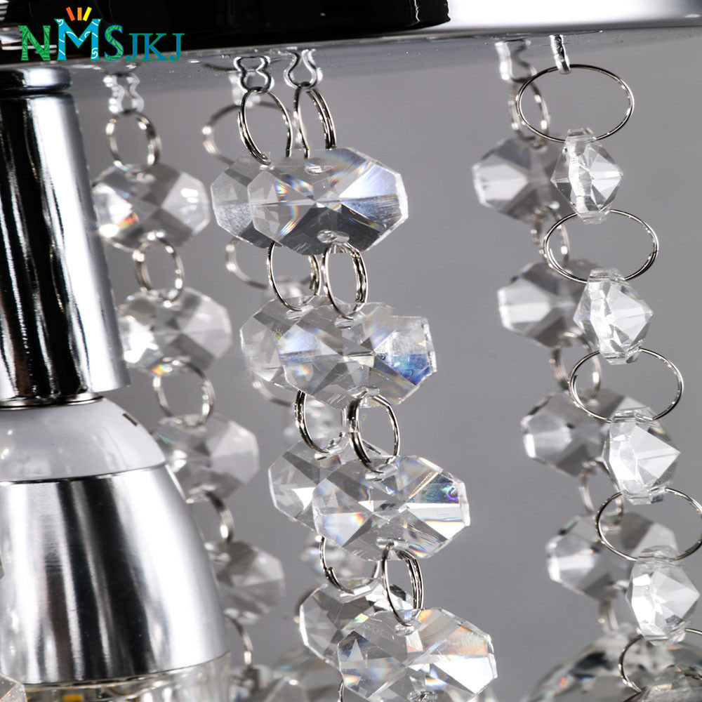 Image 4 - Modern Mini Rain Drop Small Crystal Chandelier Lustre Light With Top K9 Crystal Stainless Steel FrameD16cm H23cm-in Chandeliers from Lights & Lighting
