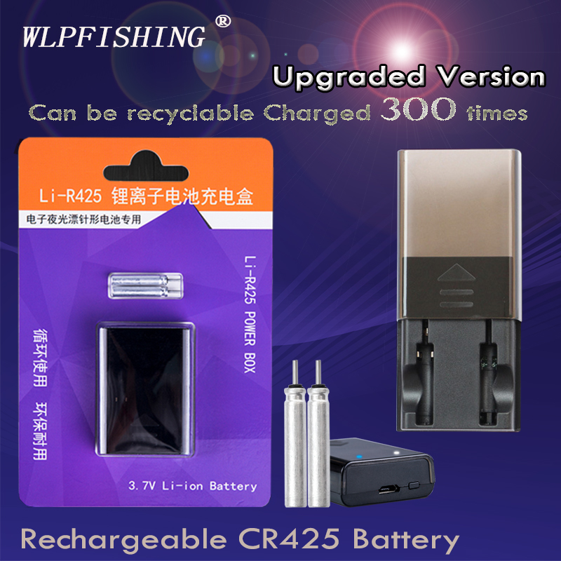 WLPFISHING Fishing Floats CR425 Rechargeable Battery 300 Times  Recyclable Charged Battery Suit For Different Charger Devices