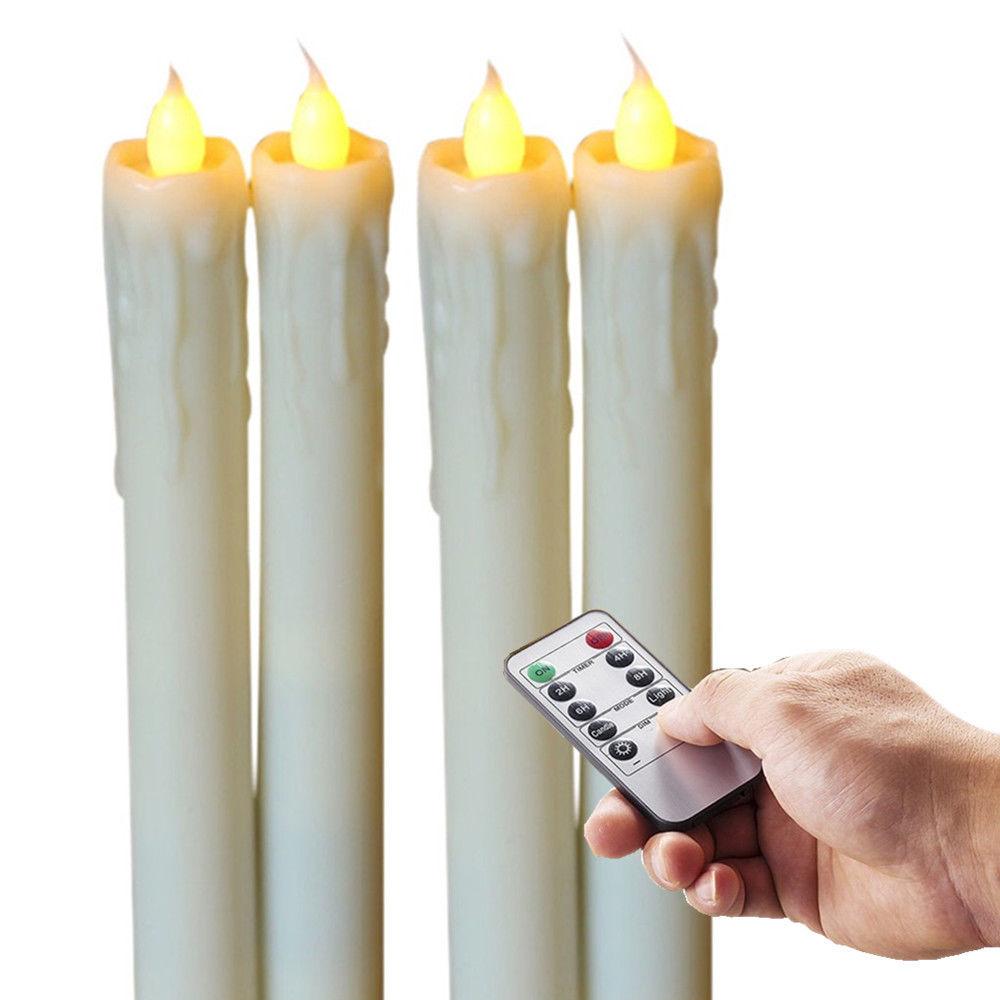 "Wholesale 4pcs Drop 8"" Flameless Battery Operated LED ..."
