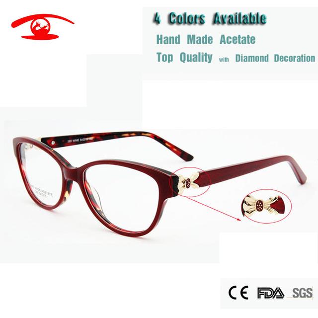 Atacado (5 pçs/lote) Novo 2016 Alto Grau de Luxo Óculos de Armação de óculos de Prescrição de óculos Óculos Oculos de grau