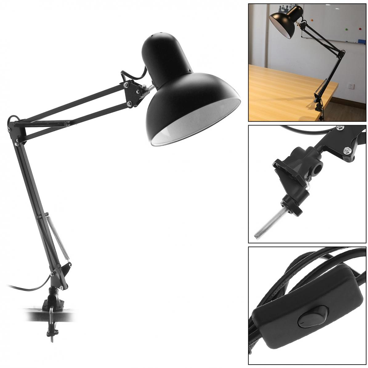 Flexible Desk Eye Protection Lamp with Rotatable Lamp Head And Clamp Mount Support 360 Degree Rotation for Office / Home