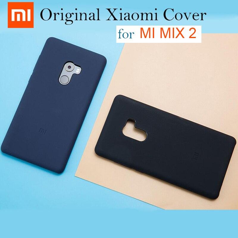 purchase cheap 2a243 7cc49 US $13.66 20% OFF|Original Xiaomi Mi MIX 2 Silicone Case Mi Mix2 Back Cover  MiMix2 Black xiaomi mi mix2 Snapdragon 835 case cover 5.99 inch-in ...