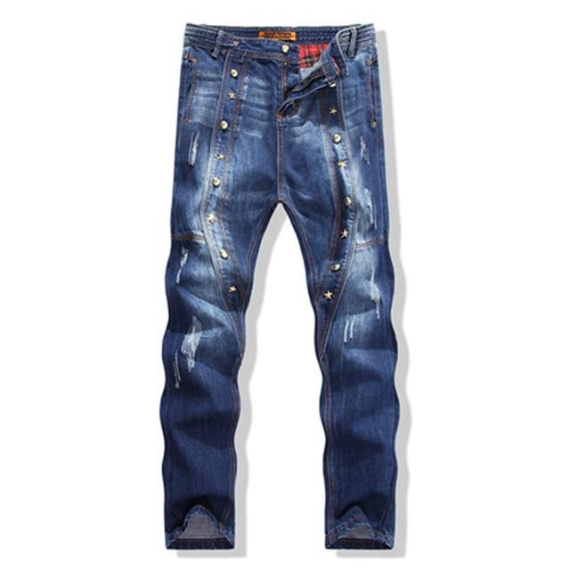 33d162c94 Abertura Pantalones Piernas Las Rotos Hot Entre 2015 Moda Hombres ...