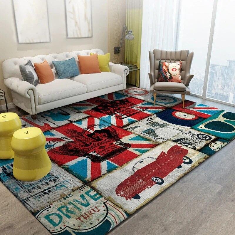 grand tapis de sol antiderapant decoration de salon style britannique chambre a coucher chambre d enfants espace canape pour la maison
