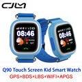 Cjlm Q90 Bebé Inteligente Relojes de Posición GPS de Pantalla Táctil Reloj SOS Ubicación Tracker Contra El Niño Perdido Smartwatch GPS Para Niños PKQ50/80