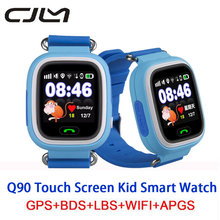 Cjlm Q90 Smart Baby Watches GPS Position Touch Screen Clock SOS Location Tracker Anti Lost Kid Smartwatch GPS For Child PKQ50/80