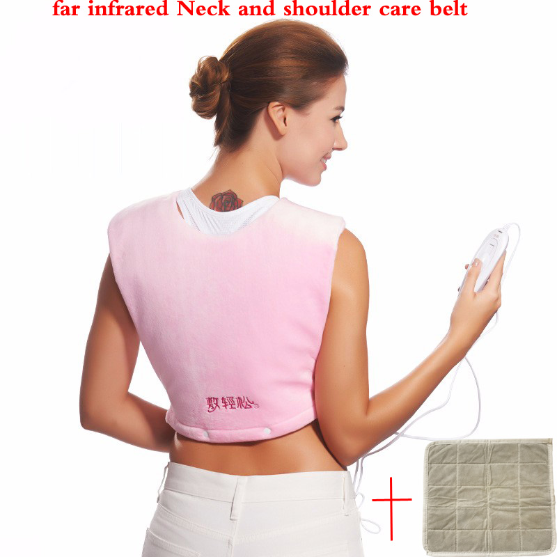 Electric far infrared heating pad moxibustion shawl for shoulder neck hot compress health care