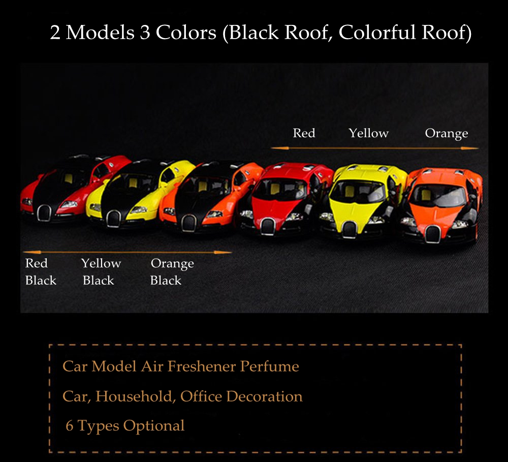 Random Color Car Air Freshener Perfume Auto Home Decoration Accessories Sports  Car Model Air Freshener In The Car Flavoring In Air Freshener From ...