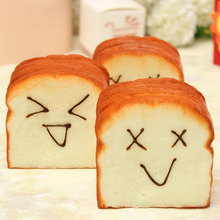 Jumbo Slice Toast Soft Squeeze Slow Raising Joy Happy Faces Holder Decoration Toy Gift For Children Adult Stress Relie 7 Seconds