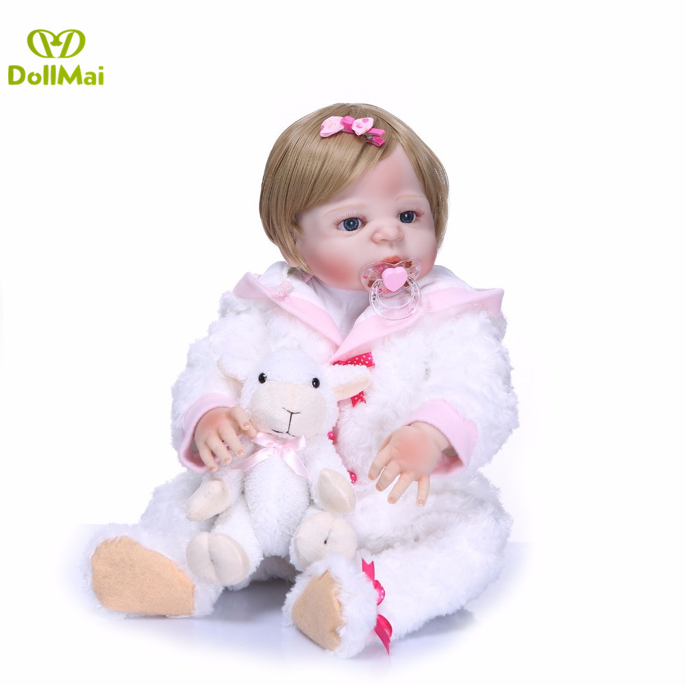 Bebe doll reborn menina 2255cm full silicone reborn baby dolls toys for children gift new born baby girl dollBebe doll reborn menina 2255cm full silicone reborn baby dolls toys for children gift new born baby girl doll