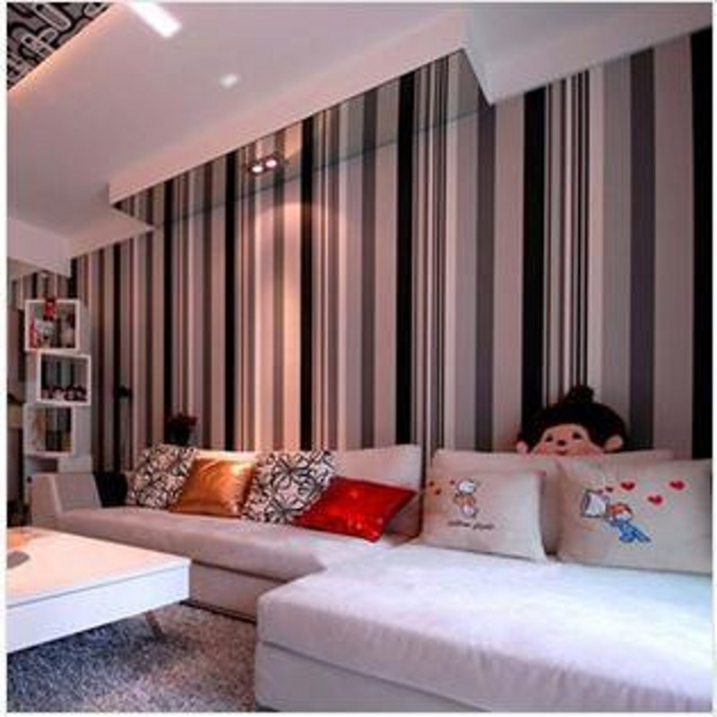 bedroom vertical grey gray living stripes tv minimalist modern wall striped parede stripe dark papel cream backdrop aliexpress woven walls