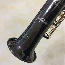 SevenAngel Sopranoแซ็กโซโฟนR54 ตรงSax BแบนSaxofone Professionalเครื่องดนตรีสีดำนิกเกิลทองDropshipping