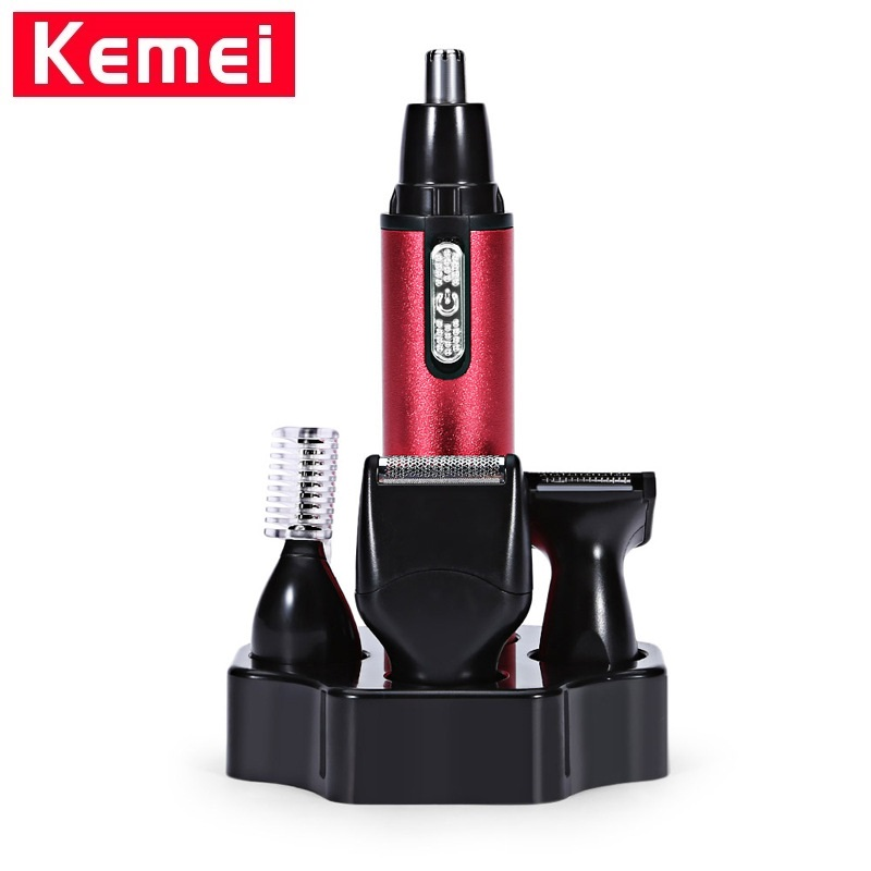 Kemei KM-6620 Ear Eyebrow Nose Trimmer Multifunction 4 In1 Electric Shaver Face Care Electric Sideburns Hair Cut Eyebrow TrimmerKemei KM-6620 Ear Eyebrow Nose Trimmer Multifunction 4 In1 Electric Shaver Face Care Electric Sideburns Hair Cut Eyebrow Trimmer