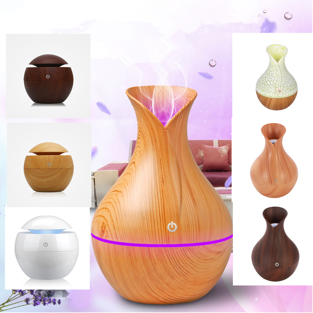 Aroma Essential Oil Diffuser Mini USB Home Air Humidifier Aromatherapy Ultrasonic Mist Humidificador Air Purifier LED Light