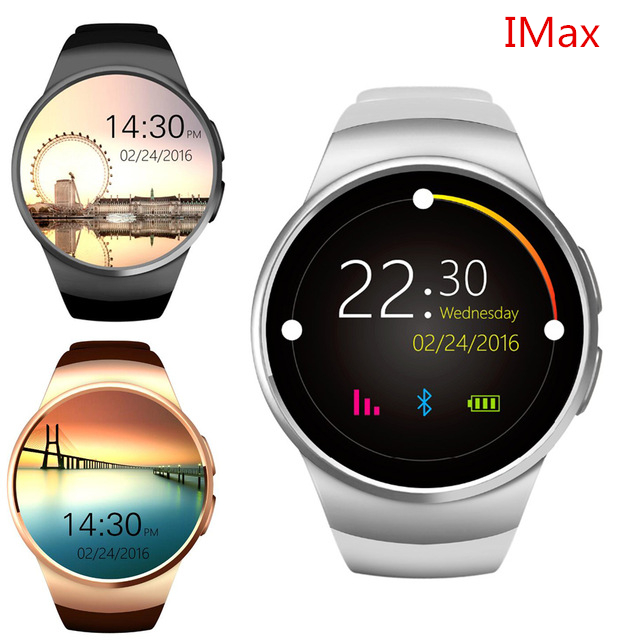 smartch kw18 heart rate smart watch bluetooth smartwatch. Black Bedroom Furniture Sets. Home Design Ideas