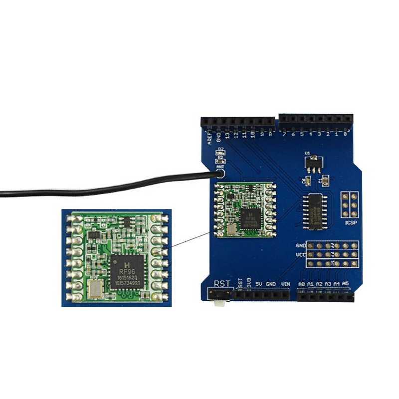 Elecrow Lora RFM95 Shield 915MHZ for Arduino Leonardo UNO Mega2560 Duemil  Long Range Transceiver Module DIY Kit