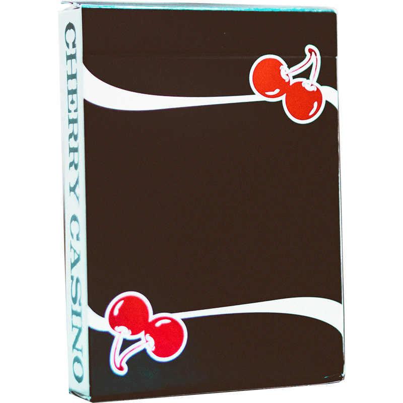 Покер 1 набор Вишневый настоящий черный игральные карты карта UNO игра Настольные Игры покер iskambil destesi хит продаж; Оптовая торговля Водонепроницаемый