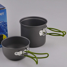 Outdoor Camping pot hiking set single nonstick cookware DS-101 Series Portable