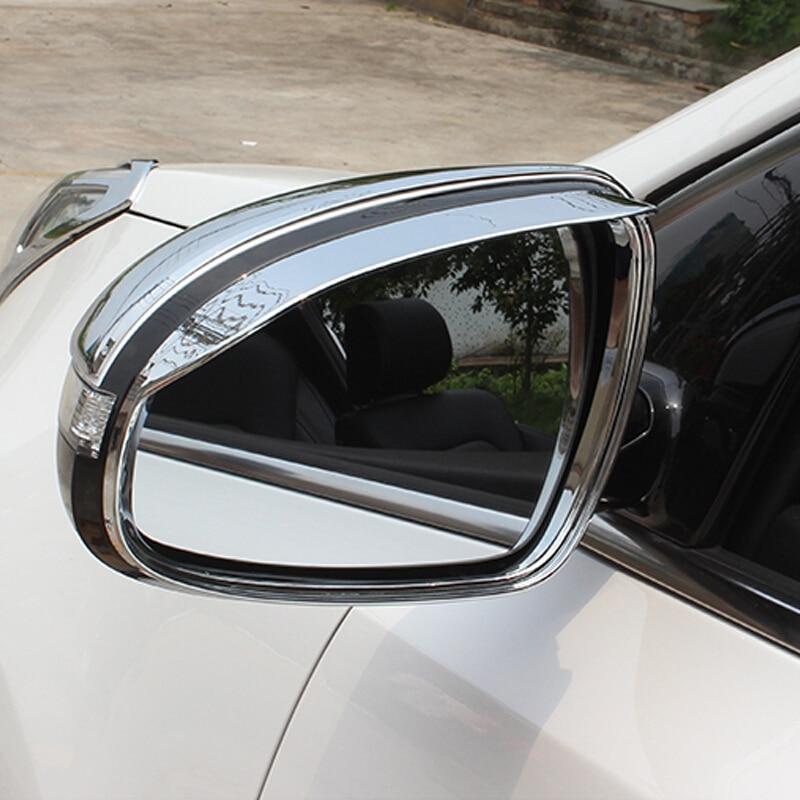For KIA Sportage 4 QL Kx5 ABS Chrome 2016 2017 Car Rearview Mirror Rain Eyebrow Cover Frame Trim In Auto Accessories