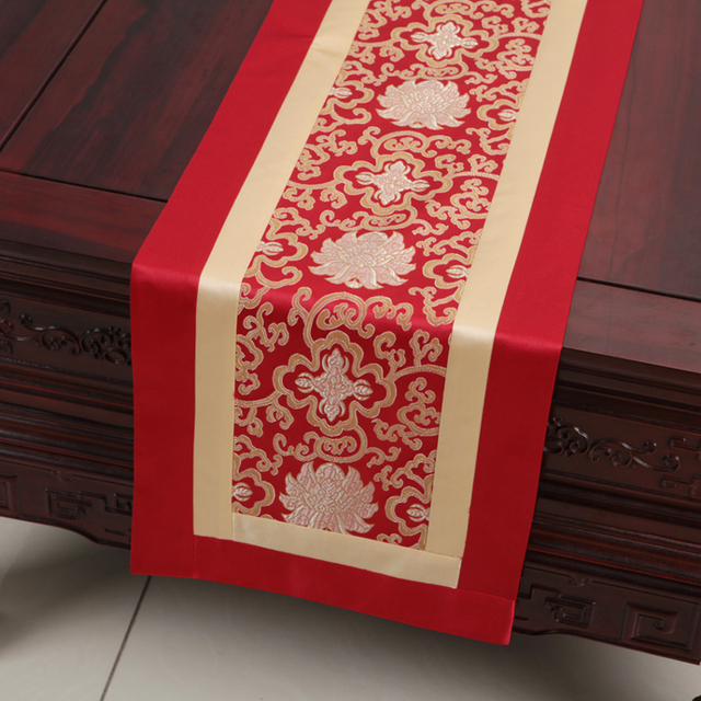 Latest Patchwork Table Runners Fashion Simple Cover Cloth Dining Table  Protective Mats High End Silk Brocade