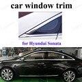 Стайлинг автомобиля из нержавеющей стали отделка окна декоративные полоски для H-yundai Sonata 11-14 аксессуары