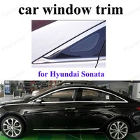 Car styling Stainless SteelWindow Trim Decoration Strips for H-yundai Sonata 11-14 Accessories