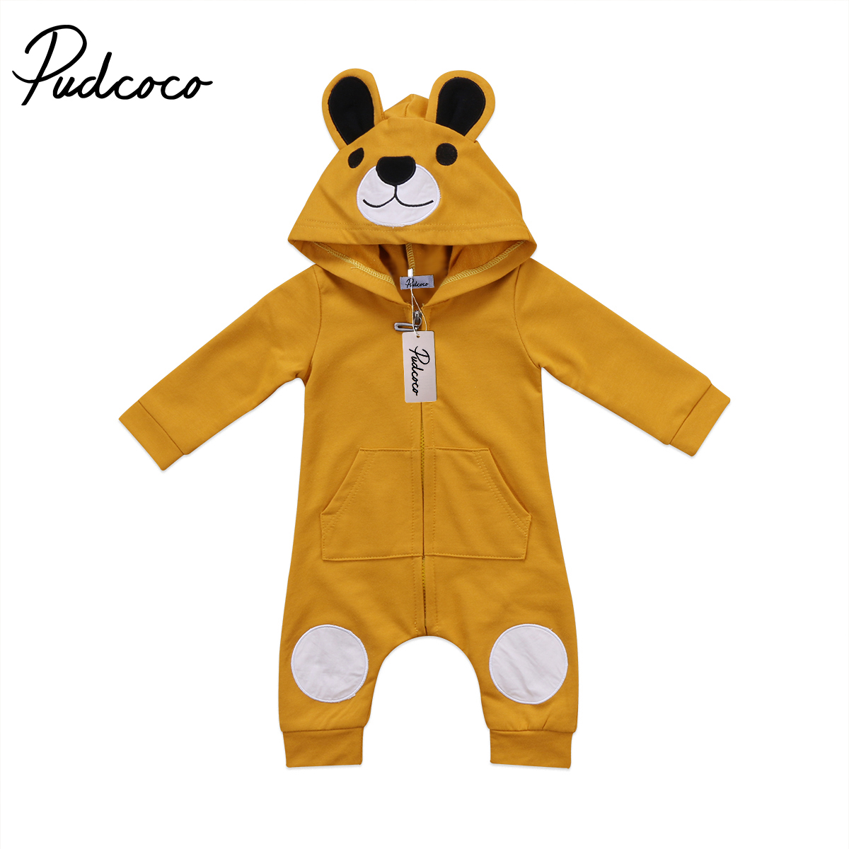 Cute Baby Clothing Newborn Kids Baby Girl Boy 3D Ear Long sleeve Romper Jumpsuit Playsuit Clothes Outfits 0-24M